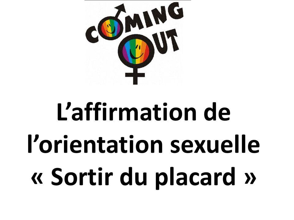 L'affirmation de l'orientation sexuelle « Sortir du placard »