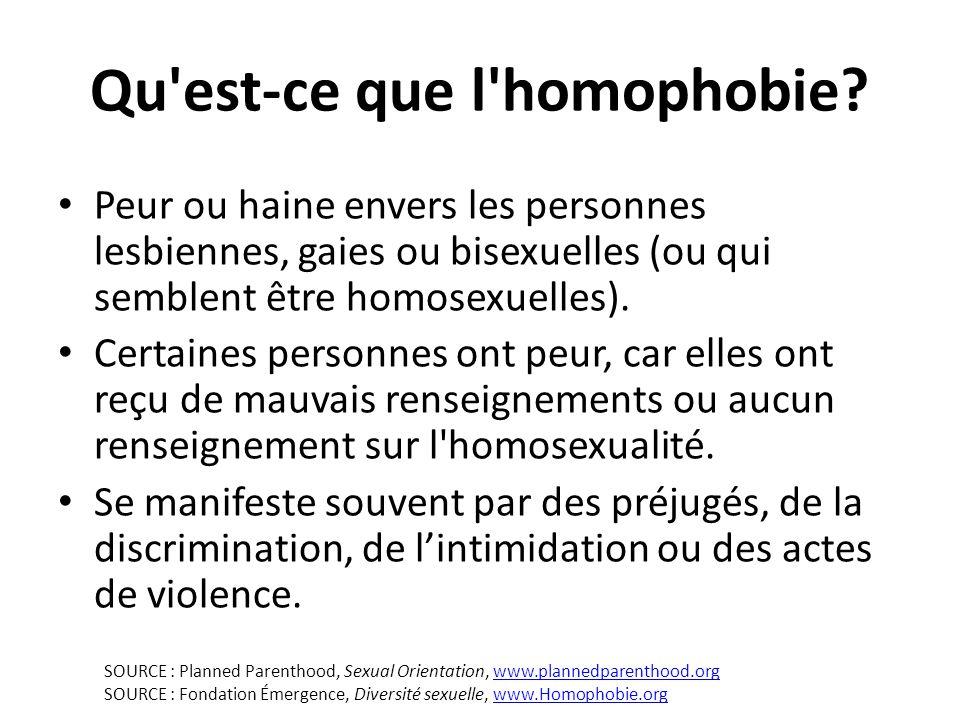 Qu est-ce que l homophobie