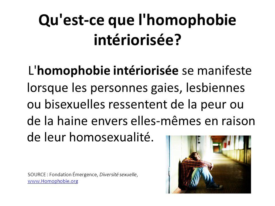 Qu est-ce que l homophobie intériorisée