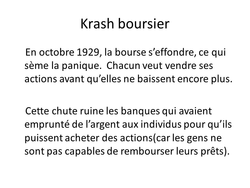 Krash boursier