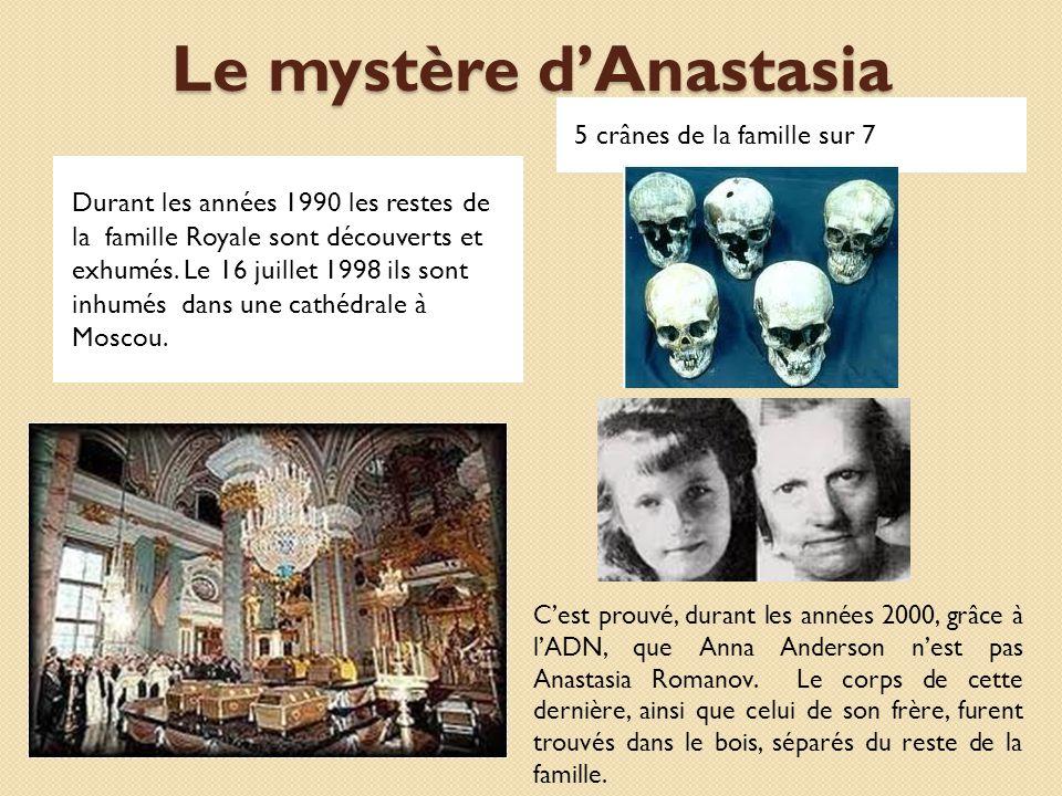 Le mystère d'Anastasia