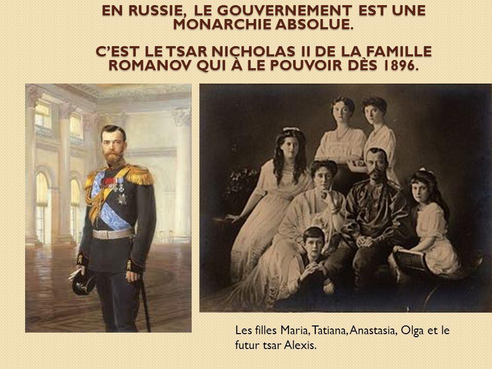 En Russie, le Gouvernement est une monarchie absolue