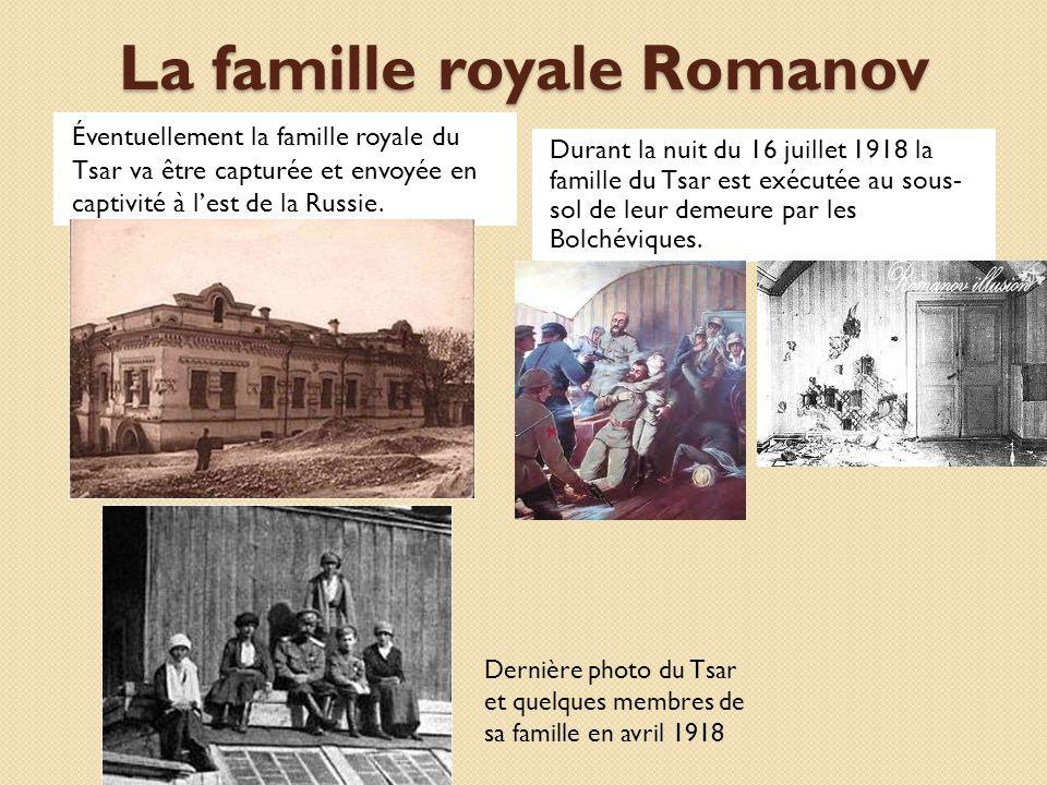 La famille royale Romanov