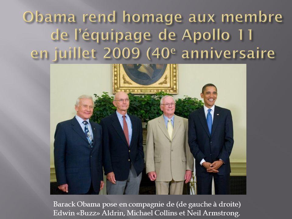 Obama rend homage aux membre de l'équipage de Apollo 11 en juillet 2009 (40e anniversaire
