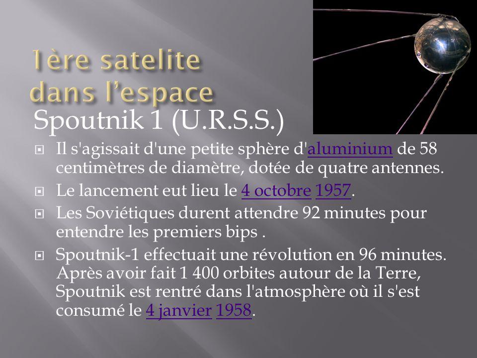 1ère satelite dans l'espace