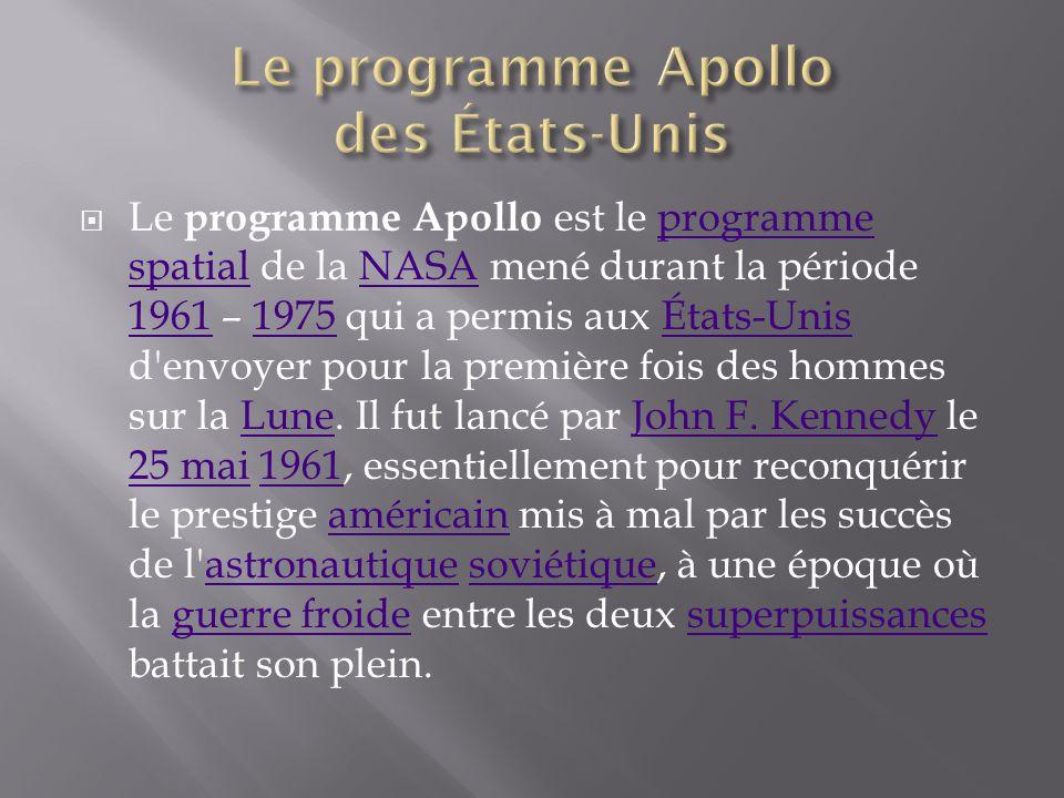 Le programme Apollo des États-Unis