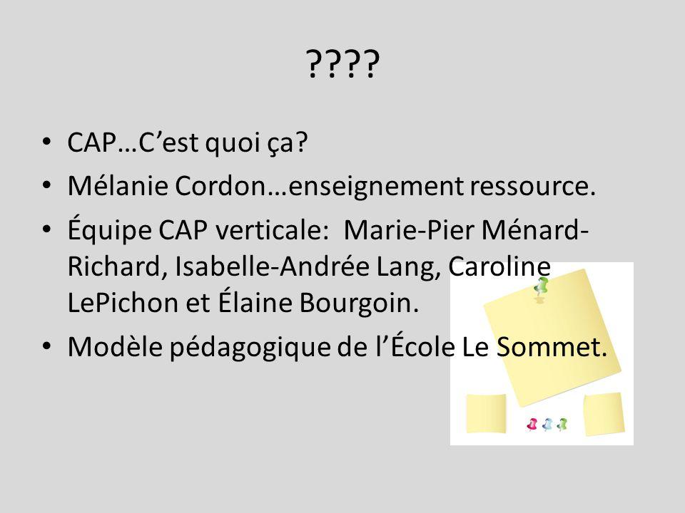 CAP…C'est quoi ça Mélanie Cordon…enseignement ressource.