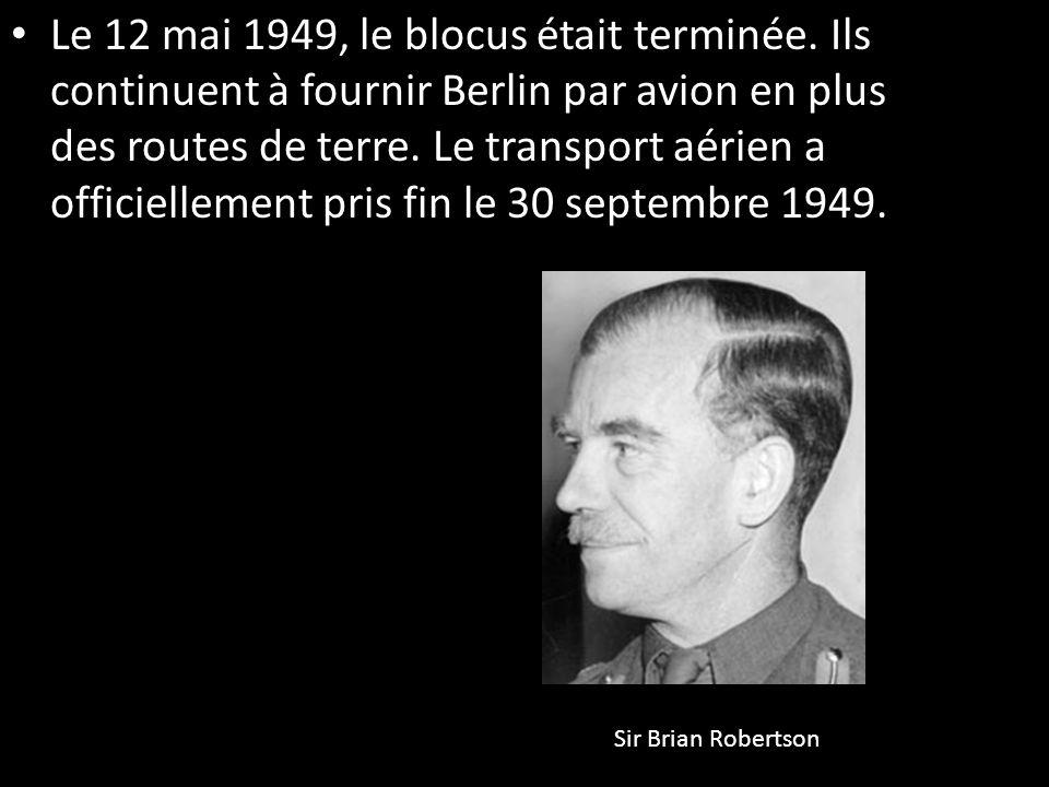 Le 12 mai 1949, le blocus était terminée