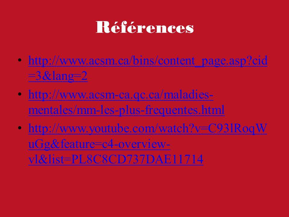 Références http://www.acsm.ca/bins/content_page.asp cid=3&lang=2
