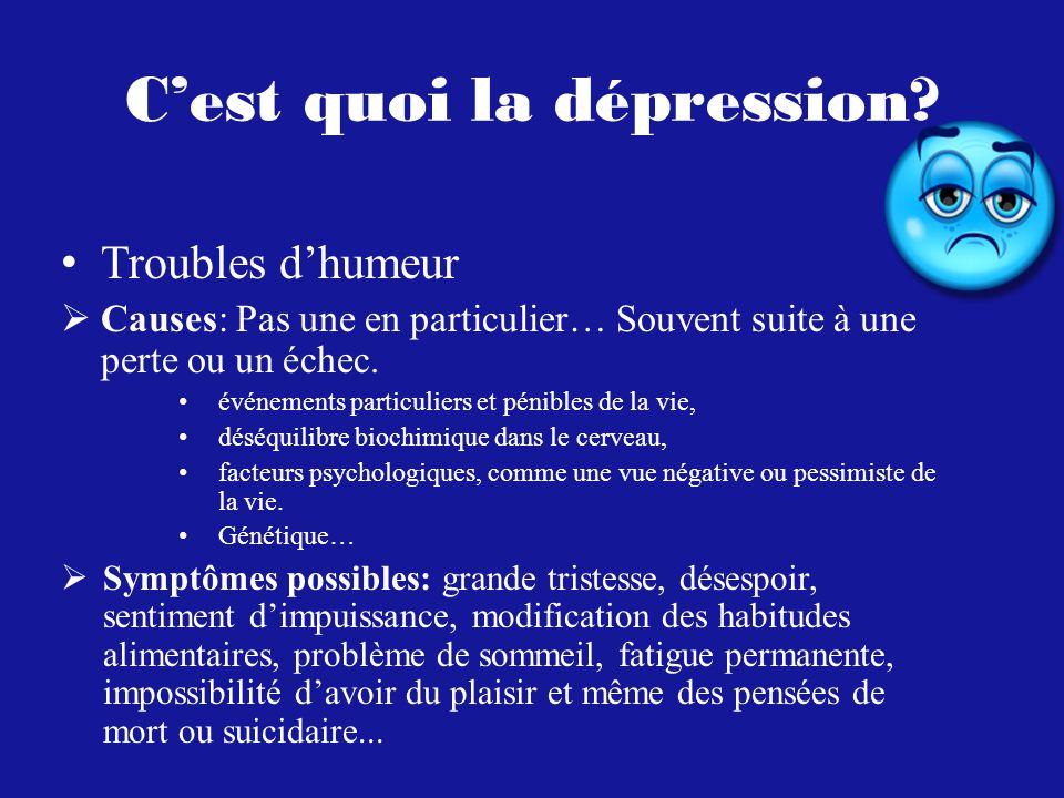 C'est quoi la dépression