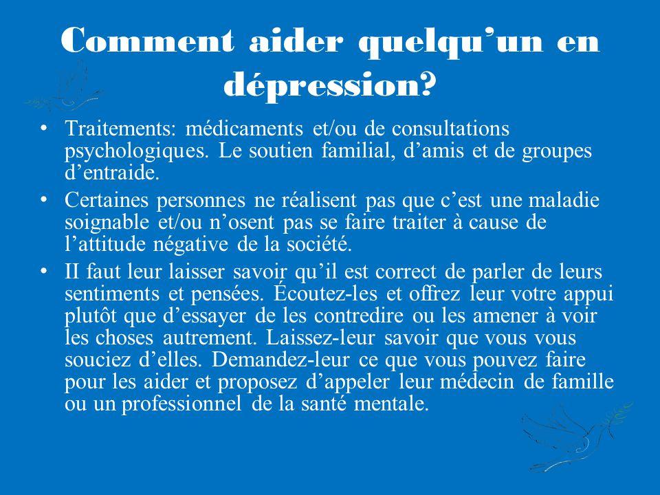 Comment aider quelqu'un en dépression