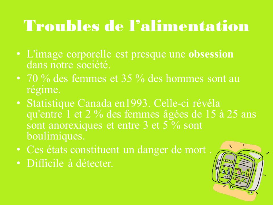 Troubles de l'alimentation