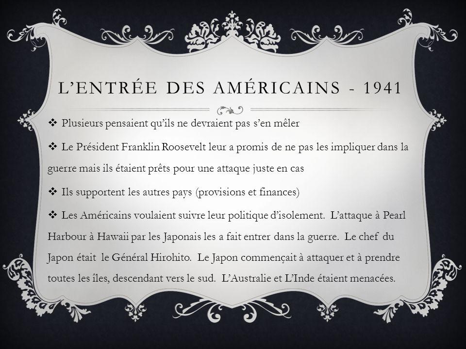 L'Entrée des Américains - 1941