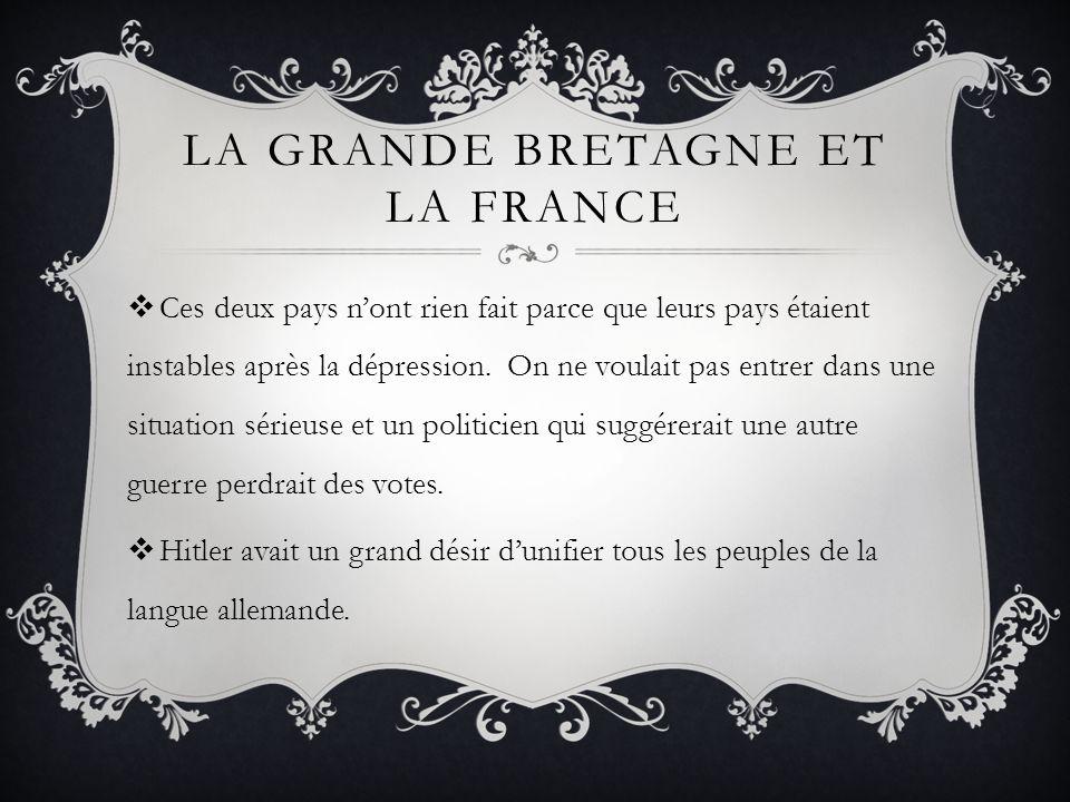 La Grande Bretagne et la France
