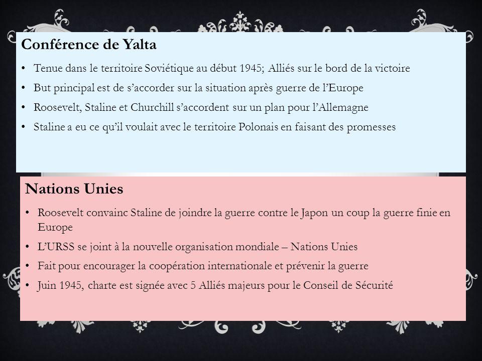 Conférence de Yalta Nations Unies