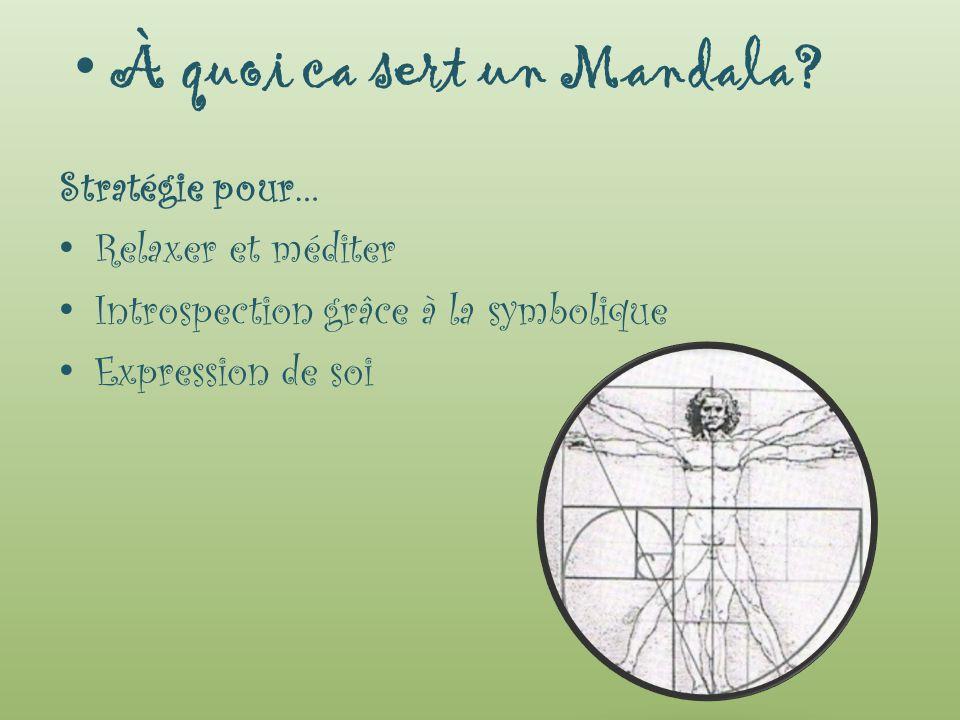 À quoi ca sert un Mandala