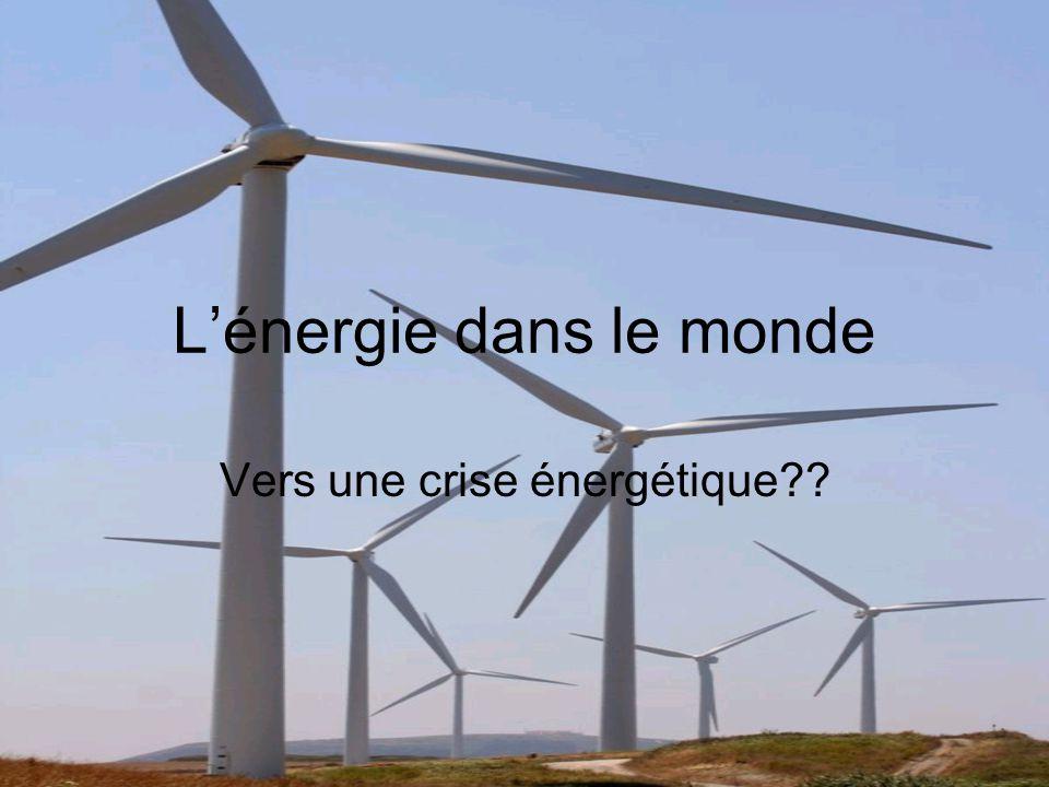 L'énergie dans le monde