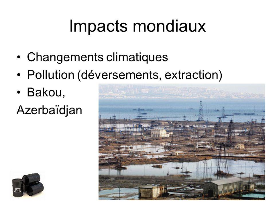Impacts mondiaux Changements climatiques