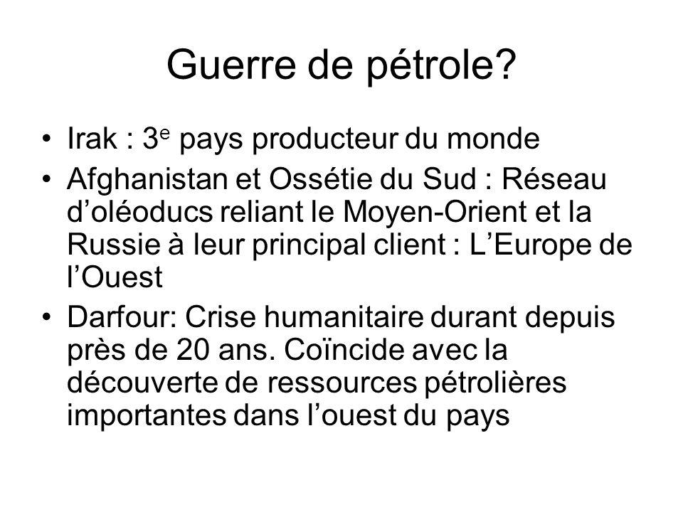 Guerre de pétrole Irak : 3e pays producteur du monde