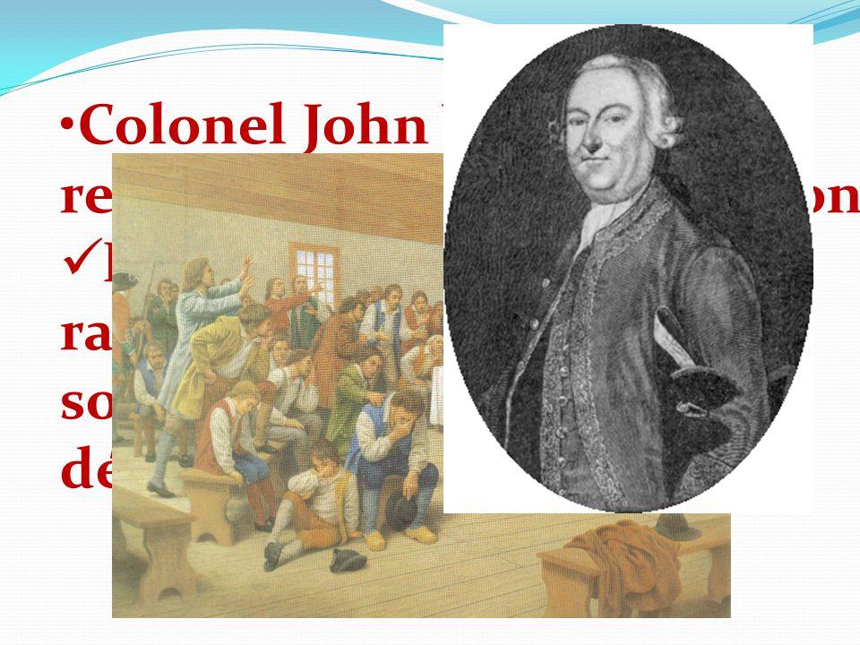 Colonel John Winslow est responsable de la déportation