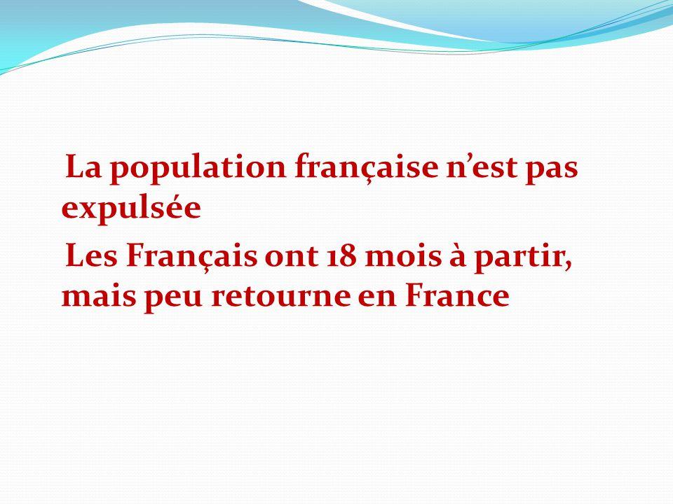 La population française n'est pas expulsée