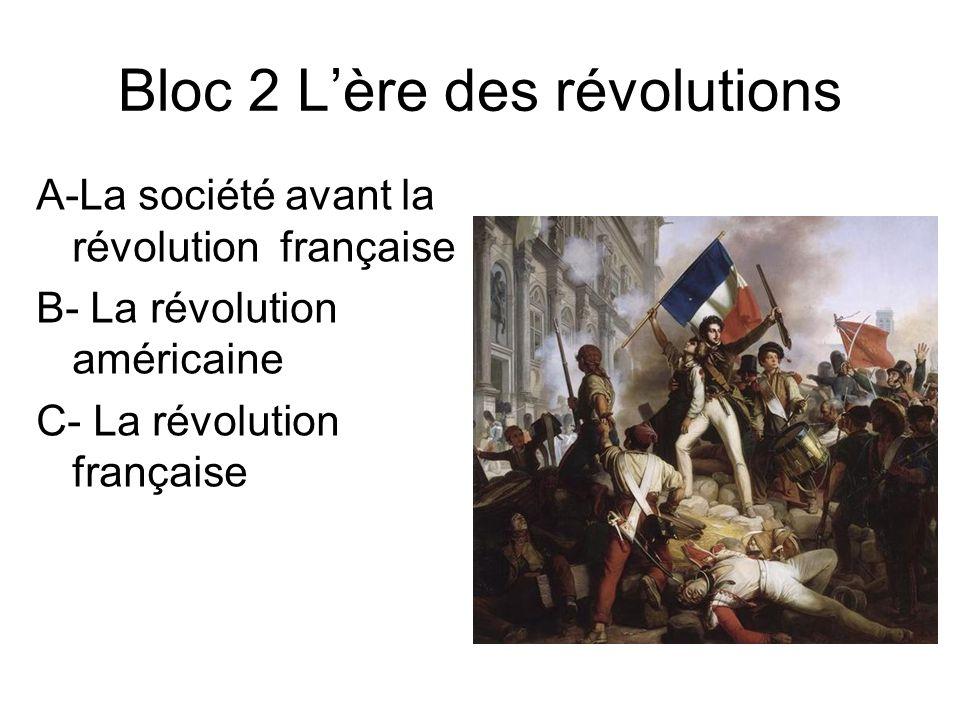 Bloc 2 L'ère des révolutions