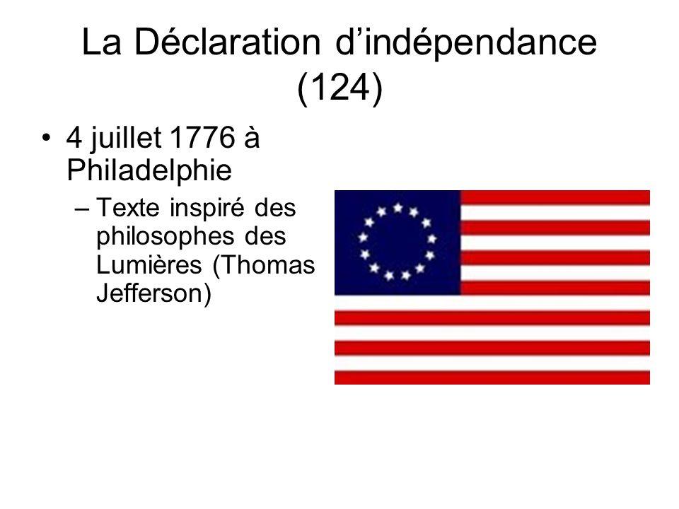 La Déclaration d'indépendance (124)