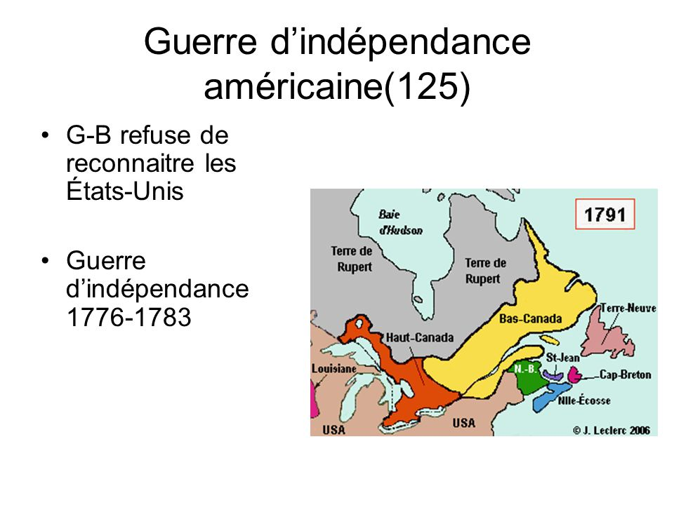 Guerre d'indépendance américaine(125)
