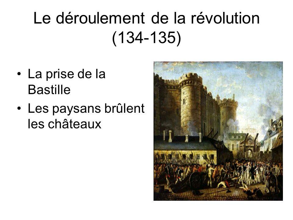 Le déroulement de la révolution (134-135)