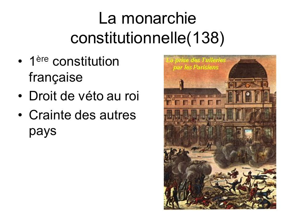 La monarchie constitutionnelle(138)