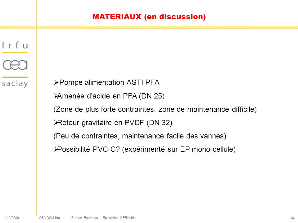 MATERIAUX (en discussion)