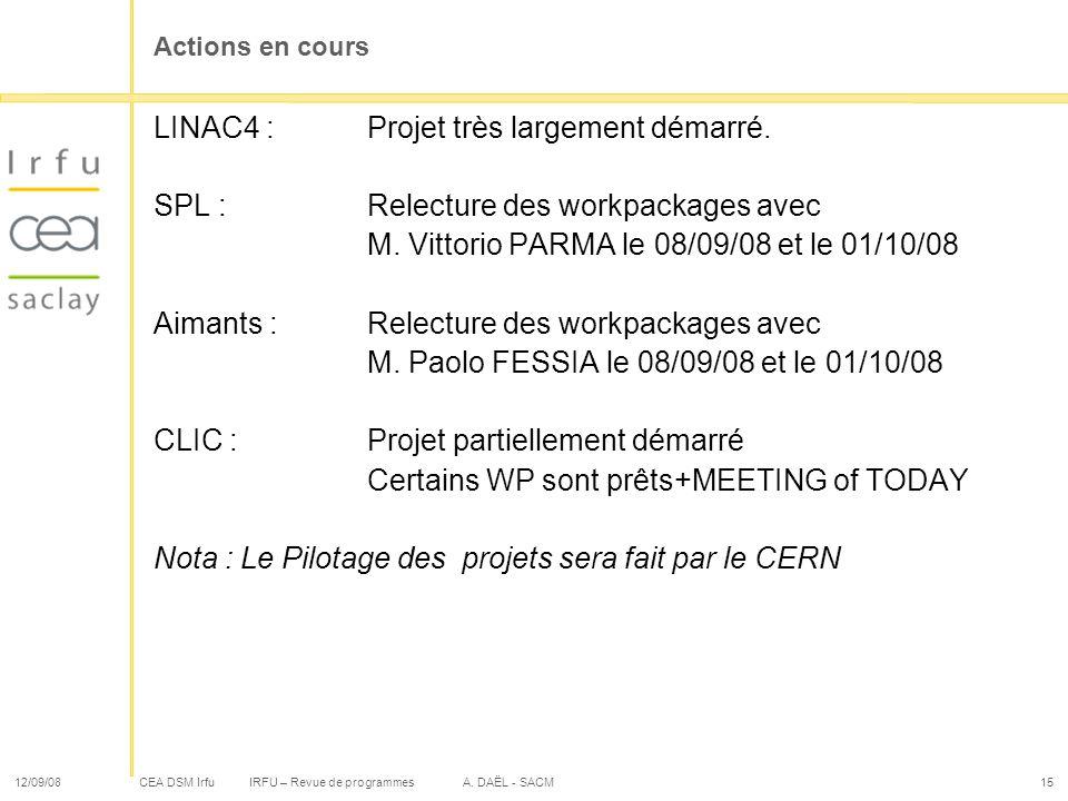 LINAC4 : Projet très largement démarré.