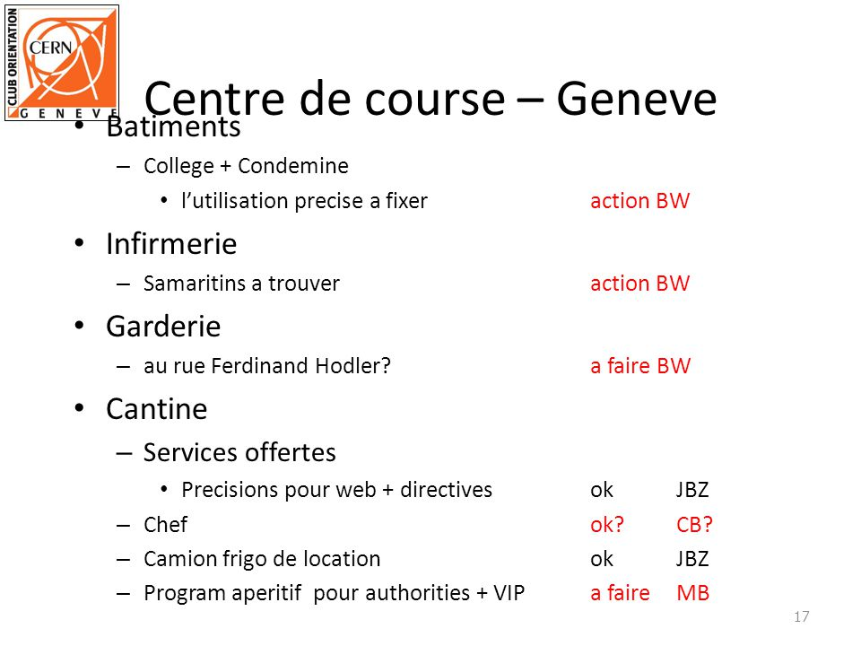 Centre de course – Geneve