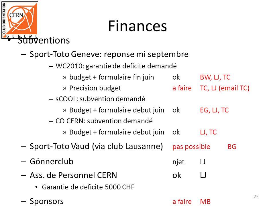 Finances Subventions Sport-Toto Geneve: reponse mi septembre