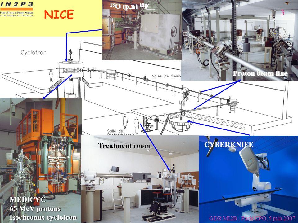 NICE 3 18O (p,n) 18F Proton beam line CYBERKNIFE Treatment room