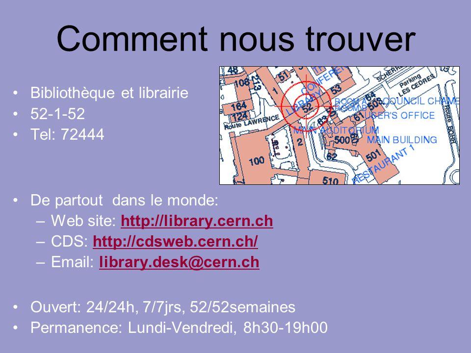 Comment nous trouver Bibliothèque et librairie 52-1-52 Tel: 72444