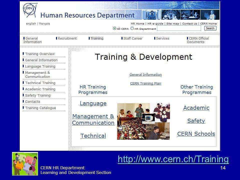 http://www.cern.ch/Training http://www.cern.ch/Training