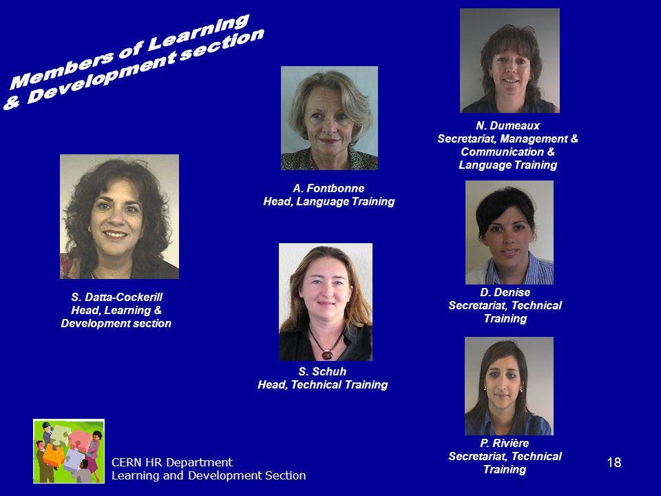 Members of Learning & Development section N. Dumeaux