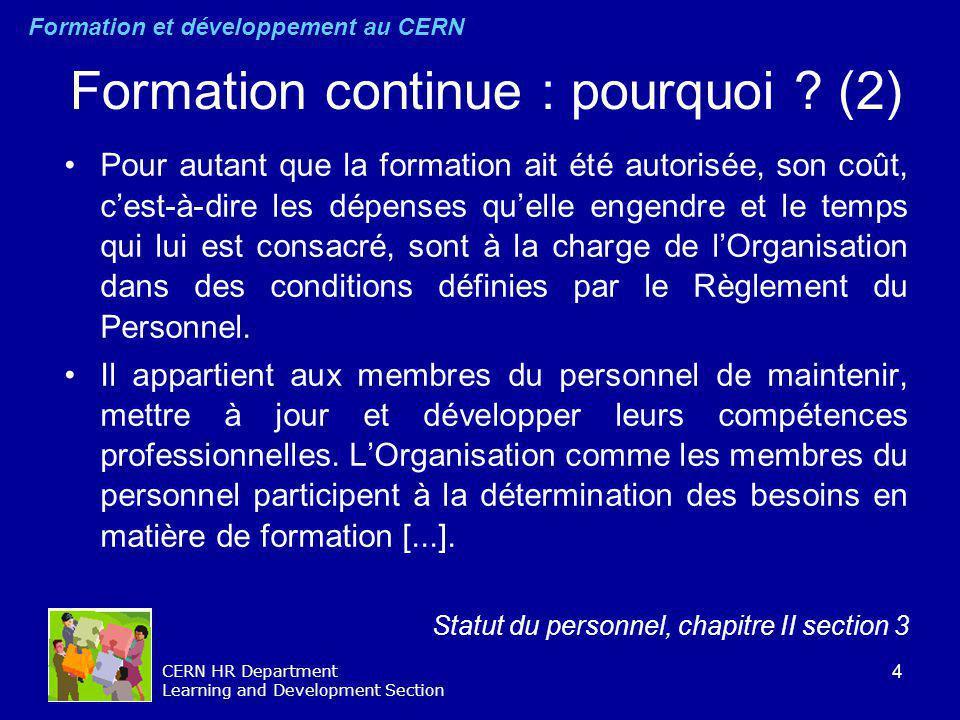 Formation continue : pourquoi (2)