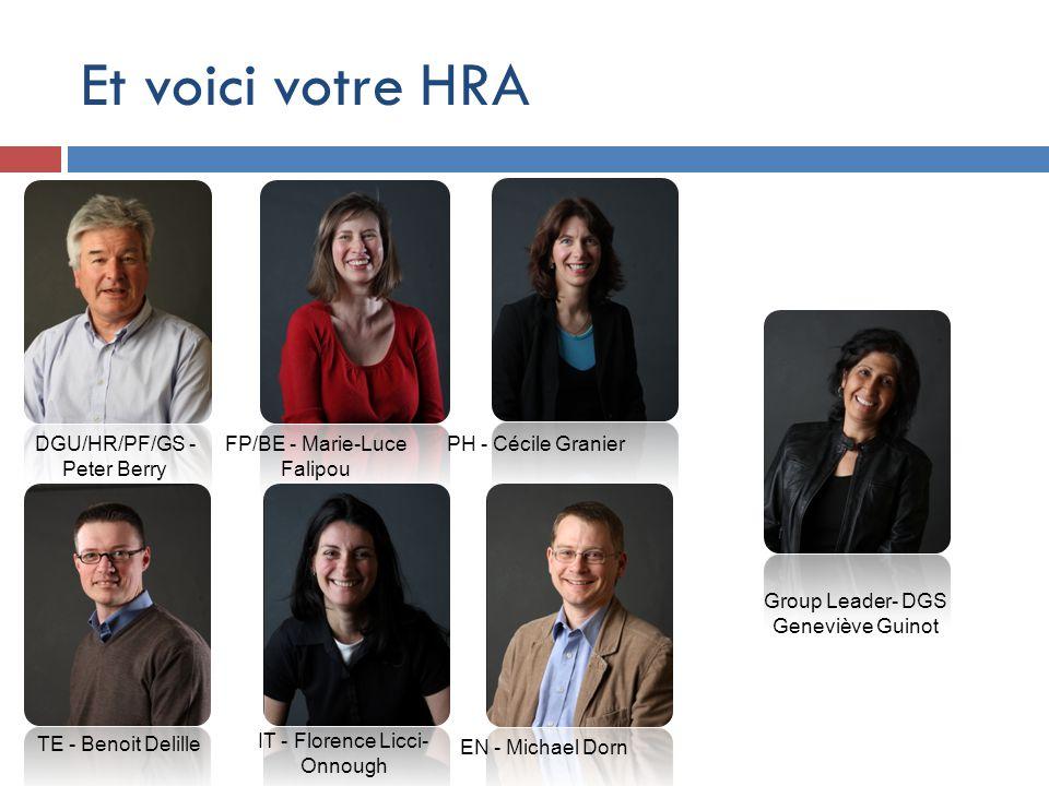 Et voici votre HRA DGU/HR/PF/GS - Peter Berry