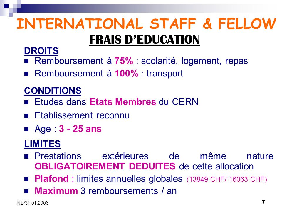 INTERNATIONAL STAFF & FELLOW