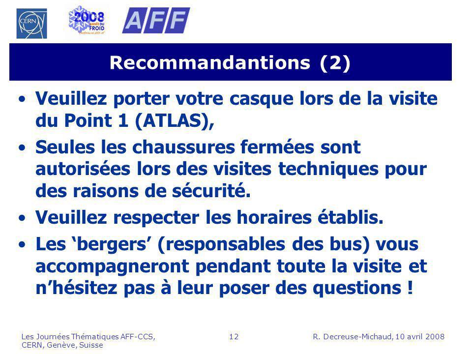 Veuillez porter votre casque lors de la visite du Point 1 (ATLAS),