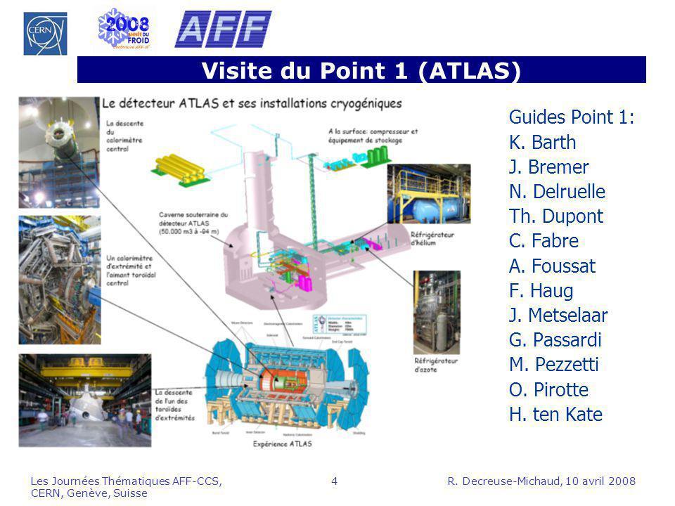 Visite du Point 1 (ATLAS)