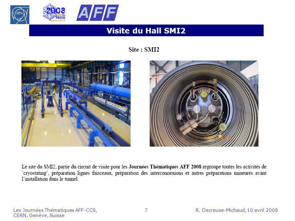 Visite du Hall SMI2 Les Journées Thématiques AFF-CCS, CERN, Genève, Suisse.