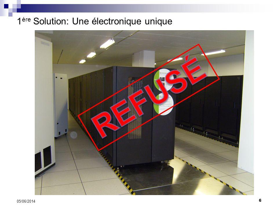 1ère Solution: Une électronique unique