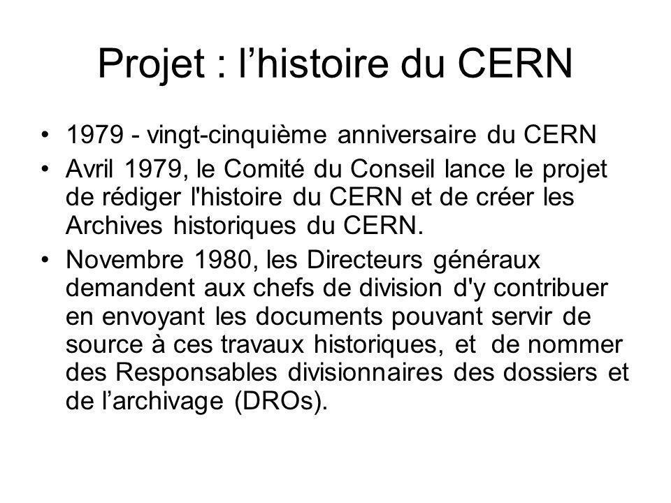 Projet : l'histoire du CERN