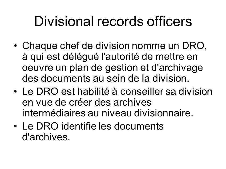 Divisional records officers