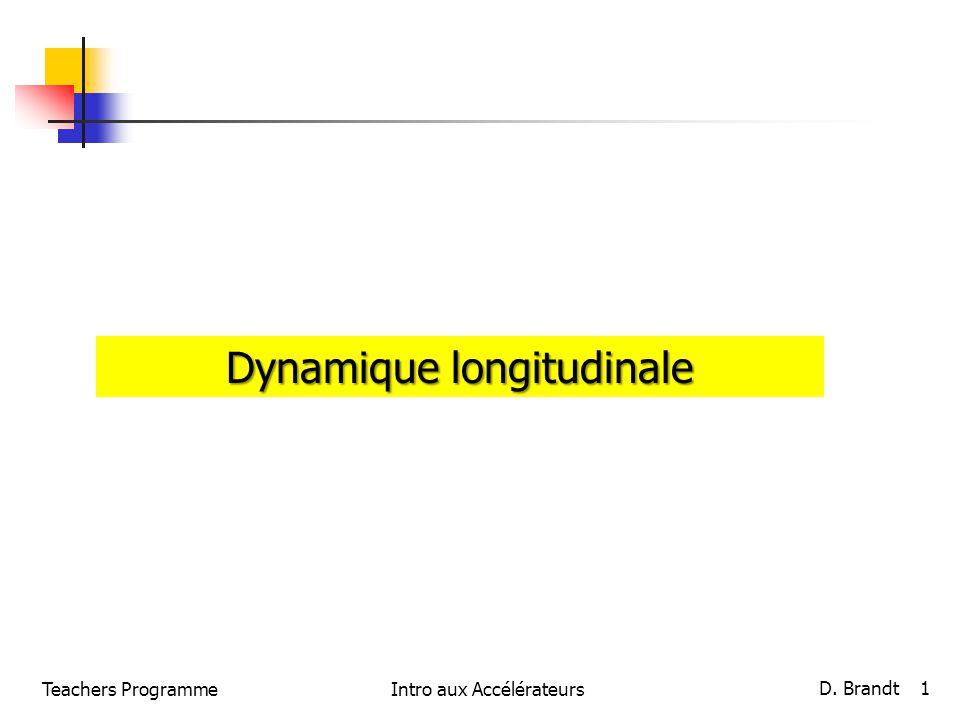Dynamique longitudinale