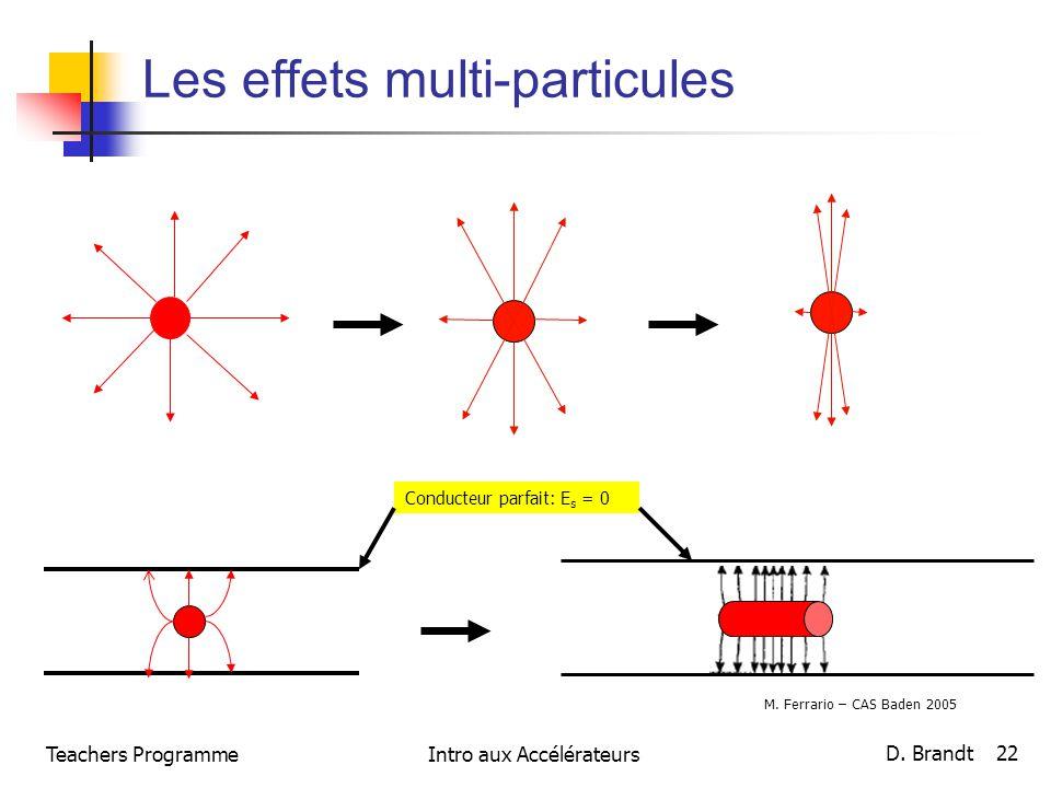Les effets multi-particules
