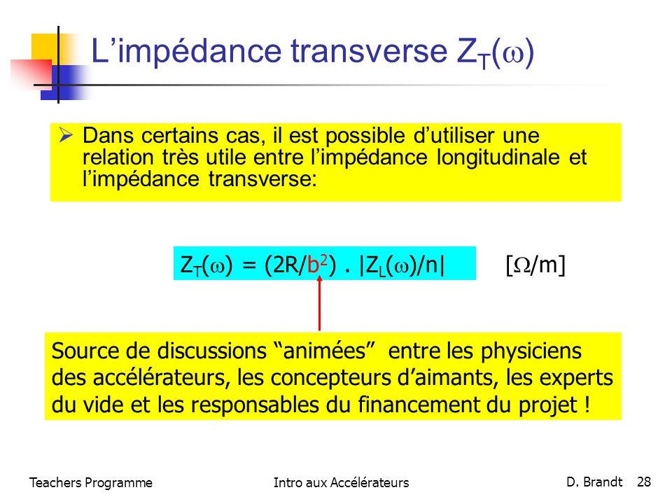 L'impédance transverse ZT()
